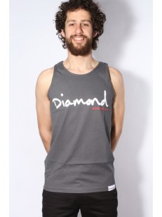 DIAMOND SUPPLY CO tílko OG SCRIPT TANK TOP CHARCOA