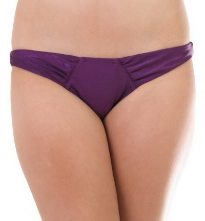 VOLCOM plavky SULTRY SOLID ROUCHED FULL (EGGPLANT)