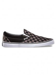 VANS boty CLASSIC SLIP-ON BLACK/PEWTER CHECKERBOAR