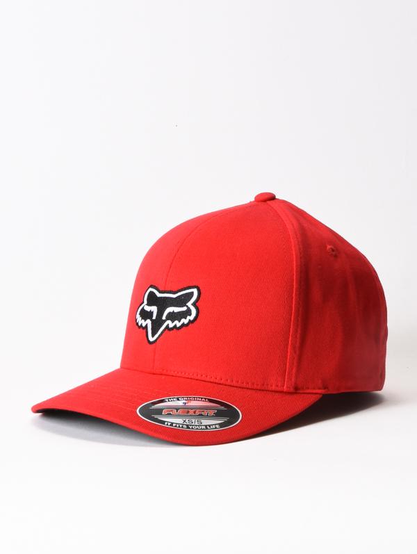 Fox Kšiltovka Legacy Flexfit Flexfit Red - S-m červená