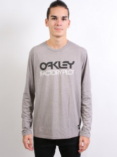OAKLEY triko FP LOGO L/S ATHLETIC HEATHER GREY