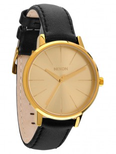 NIXON hodinky KENSINGTON LEATHER GOLD