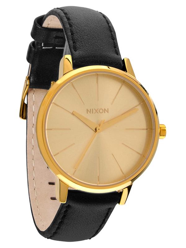 Hodinky Nixon Kensington Leather Gold