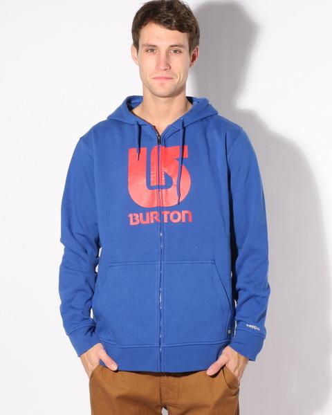 Burton Mikina Logo Vertical Blue - S modrá