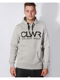 COLOUR WEAR mikina CLWR HOOD GREY MELANGE