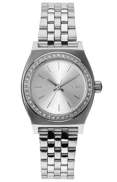 Hodinky Nixon Small Time Teller All Silver/crystal