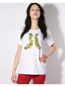 WESC tričko LEAFY ICON WHITE