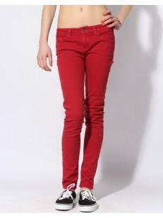 VANS kalhoty COLOR SKINNY RIO RED