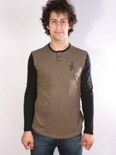 ALTAMONT triko SPANSIVE HENLEY GREEN/BLACK