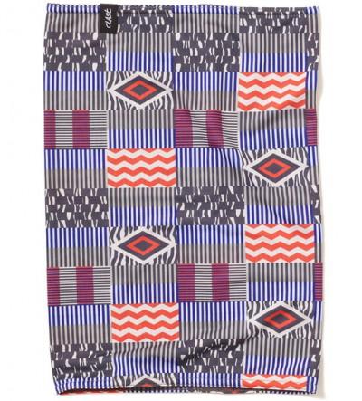 CLAST šátek EASE INDIGO BLUE/RED