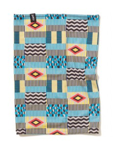 CLAST šátek EASE INDIGO YELLOW/LIGHT BLUE