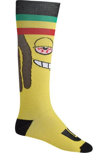 Burton Ponožky Super Party Ras Banana - M žlutá