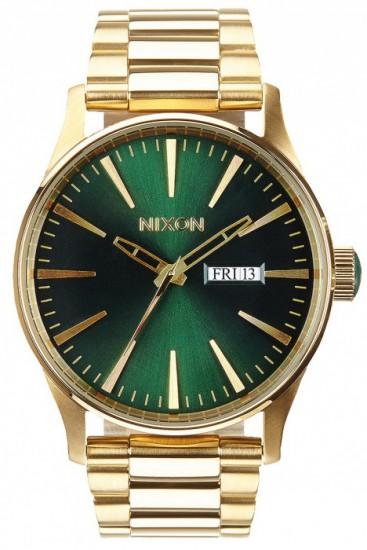 NIXON hodinky SENTRY SS GOLD/GREENSUNRAY