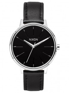 NIXON hodinky KENSINGTON LEATHER BLACK