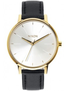 NIXON hodinky KENSINGTON LEATHER GOLDWHITEBLACK