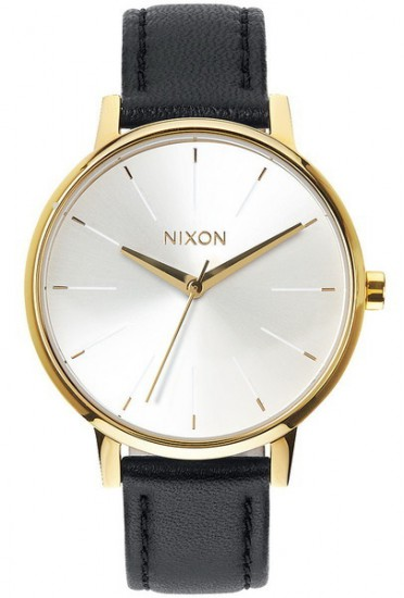 NIXON hodinky KENSINGTON LEATHER GOLD/WHITE/BLACK