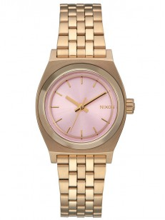 NIXON hodinky SMALL TIME TELLER LIGHTGOLDPINK