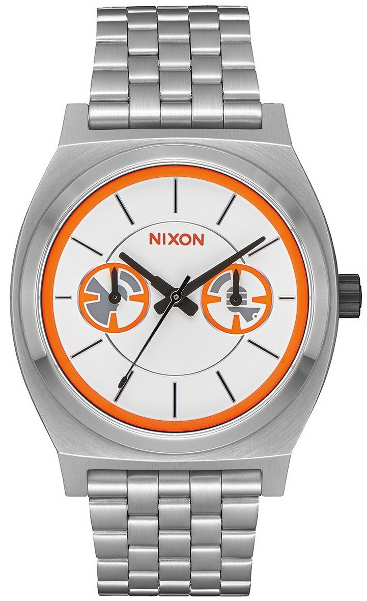 Nixon Hodinky Time Teller Deluxe Star Wars Bb-8/si bílá