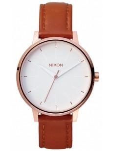 NIXON hodinky KENSINGTON LEATHER ROSEGOLDWHITE