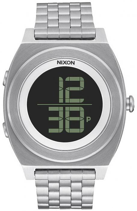 Nixon Hodinky Time Teller Digi Ss Black šedá