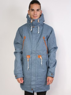 COLOUR WEAR bunda URBAN PARKA DENIM BLUE