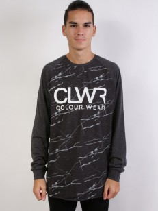 COLOUR WEAR tričko TTR JERSEY BLACK MARBLE
