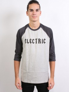 ELECTRIC triko HESSIAN RAGLAN HEATHER DARK