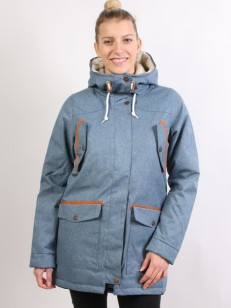 COLOUR WEAR bunda WEAR RANGE PARKA DENIM BLUE