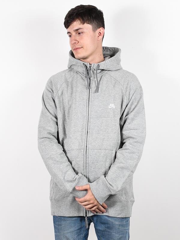 Nike Sb Mikina Everett Gry Hthr/wht - L šedá