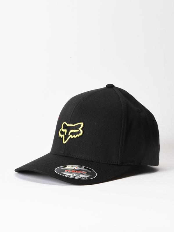 Fox Kšiltovka Legacy Flexfit Hat Black/yellow - Xxl černá