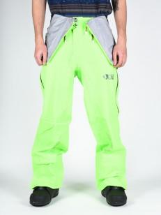 PICTURE kalhoty WELCOME 4 BIB NEONGRN/ANTHR