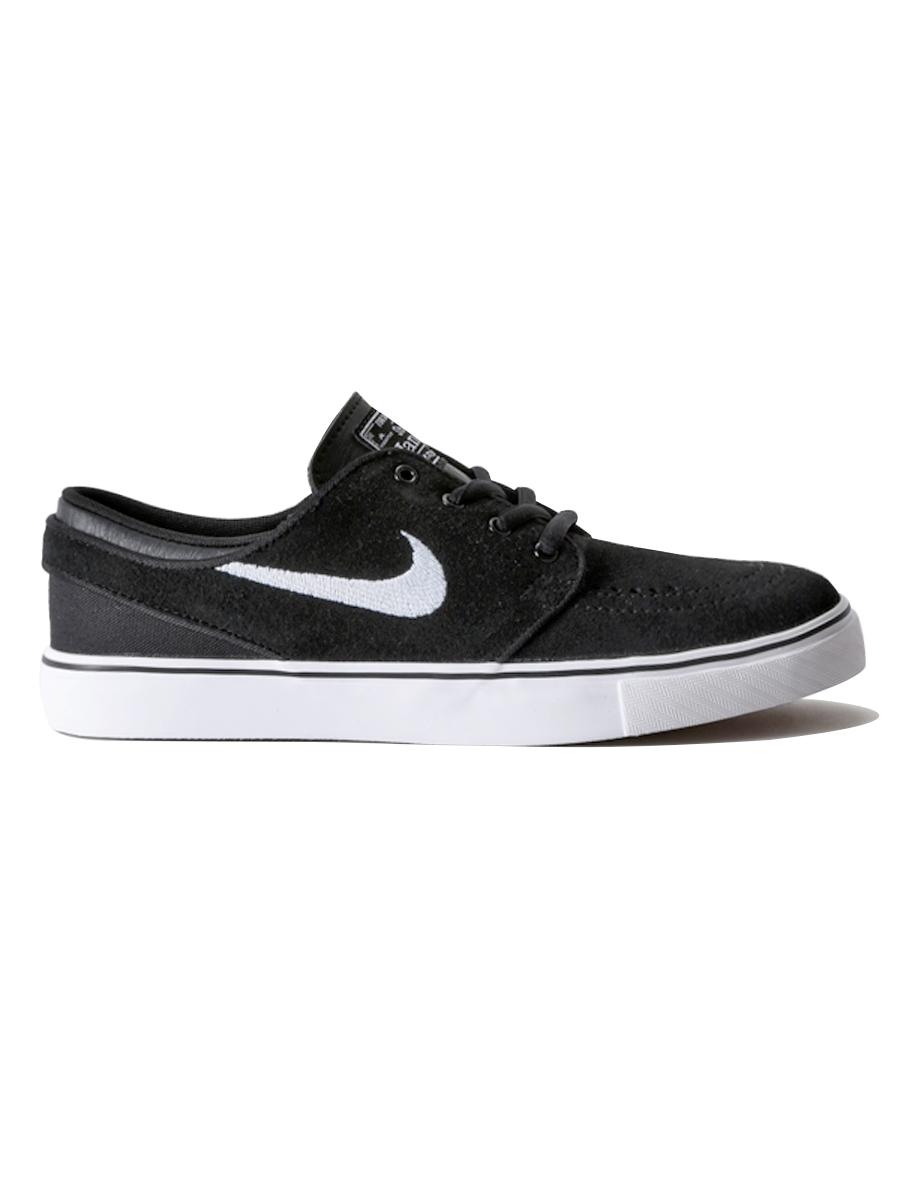 Nike Sb Boty Stefan Janoski (gs) Black/white-gum B - Nike Sb Boty Stefan Janoski (gs) Black/white-gum M černá