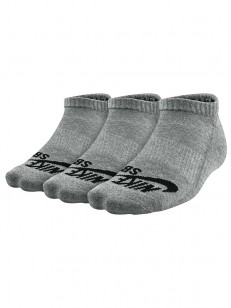 NIKE SB ponožky NO SHOW GREY/BLACK