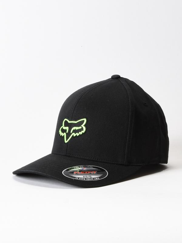 Fox Kšiltovka Legacy Flexfit Black/green - S-m černá