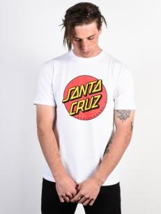 SANTA CRUZ triko CLASSIC DOT White