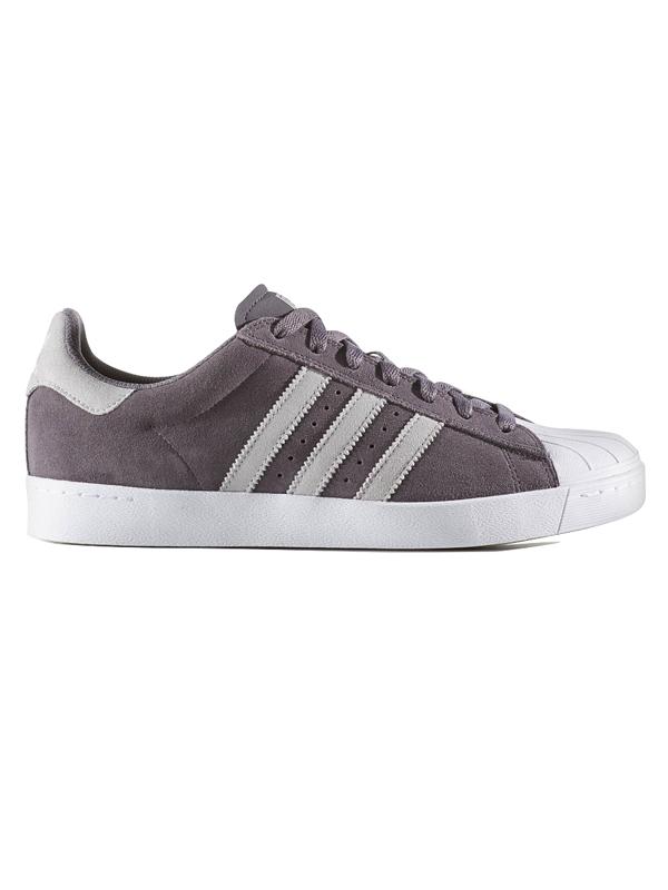 Adidas Boty Superstar Vulc Adv Gry/gry/wht - 5,5us šedá