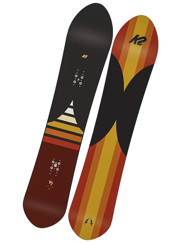 K2 Snowboard Eighty Seven Brw/yel - 155 hnědá