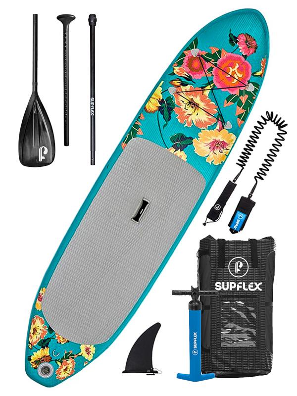 Supflex Paddleboard Fun Flowery Grey - 10-30-6 šedá