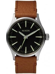 hodinky Nixon Sentry 38 Leatherblack saddle