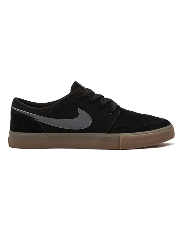 Nike Sb Boty Portmore Ii Solar Black/dark Grey - 7us černá