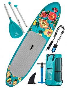 SUPFLEX paddleboard FUN FLOWERY 2. GRN