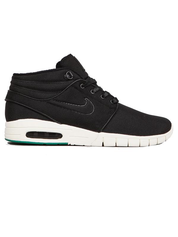 Nike Sb Boty S.janoski Max Mid Black/black/grn - 11u