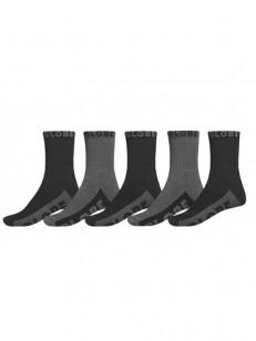 GLOBE ponožky BLACK/GREY CREW BLACK/GREY