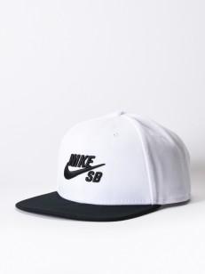 NIKE SB kšiltovka PRO WHITE/BLACK