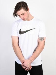 NIKE SB tričko DRY DFC WHITE/CAMO