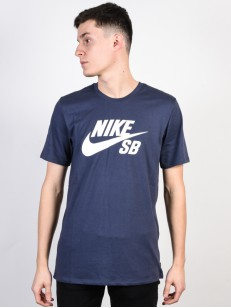 NIKE SB tričko LOGO BLUE/WHITE