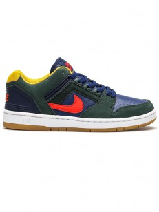 NIKE SB topánky AIR FORCE II LOW GREEN/RED/BLUE