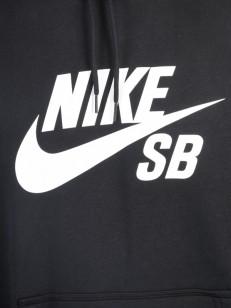 NIKE SB mikina ICON BLACK/WHITE