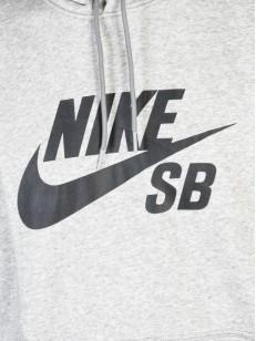 NIKE SB mikina ICON PO ESSNL GREY HTR/BLACK
