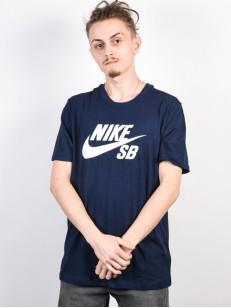 NIKE SB triko DRY DFCT LOGO OBSIDIAN/WHITE